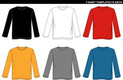 T-shirt template Stock Photography