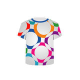 T Shirt Template with fractal rings graphic Royalty Free Stock Images