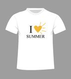 T-shirt template. Front and back Stock Photo
