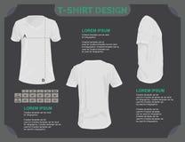 T-Shirt template. Royalty Free Stock Photos