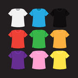T-shirt template and mockup Stock Images