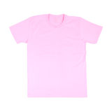 T-shirt template. Pink t-shirt template (front side) on white background royalty free stock photo