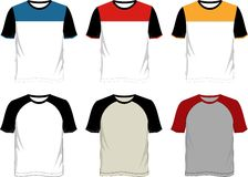 T-shirt template raglan Royalty Free Stock Images