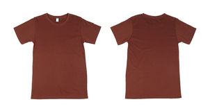 T-shirt template set(front, back) Royalty Free Stock Image