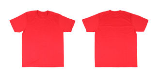 T-shirt template set(front, back) Royalty Free Stock Photos