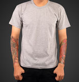 T-shirt template. USE FOR LAYOUT, DESIGN, & BACKGROUND Royalty Free Stock Photography