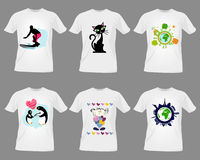 T-shirt templates Stock Photos