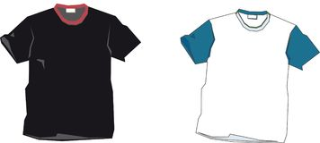 T-shirt templates Royalty Free Stock Photography
