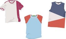 T-shirt templates Stock Images