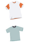 T-shirt templates Royalty Free Stock Photo