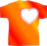 T-shirt templates with valentine heart Royalty Free Stock Image