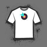 T-shirt templete. An original grungy blank t-shirt templete Stock Images