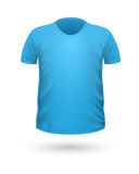 T-shirt Teplate. Front Side View. Vector Royalty Free Stock Photos