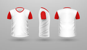 T-shirt Teplate Set. Front Side Back View. Vector Royalty Free Stock Images