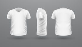T-shirt Teplate Set. Front Side Back View. Vector Royalty Free Stock Image