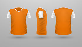 T-shirt Teplate Set. Front Side Back View. Vector Royalty Free Stock Photo