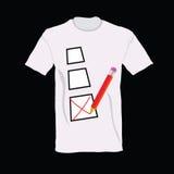 T-shirt with ticking  illustration Stock Photos