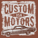 T-shirt typography design, retro car vector, printing graphics, typographic vector illustration, vintage car graphic design for la Stock Photo