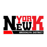 T shirt typography graphic New York Brooklyn Royalty Free Stock Image