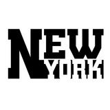 T shirt typography graphic New York. T shirt typography graphics New York. Athletic style NYC. Fashion stylish print for sports wear. Black and white emblem Stock Photo