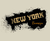 T shirt typography graphics Brooklyn New York. T shirt typography graphics New York. Athletic style NYC. Fashion american stylish print for sports wear. Grunge Royalty Free Stock Photography