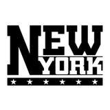 T shirt typography graphics New York Stock Photography