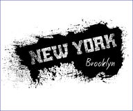 T shirt typography graphics New York Brooklyn. T shirt typography graphics New York. Athletic style NYC. Fashion american stylish print for sports wear. Grunge Stock Photo