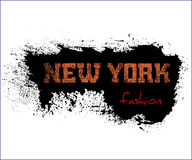 T shirt typography graphics New York fashion. T shirt typography graphics New York. Athletic style NYC. Fashion american stylish print for sports wear. Grunge Stock Photo
