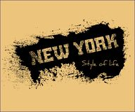 T shirt typography graphics New York style life. T shirt typography graphics New York. Athletic style NYC. Fashion american stylish print for sports wear. Grunge Royalty Free Stock Photo