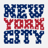 T shirt typography New York blue red star Royalty Free Stock Photography