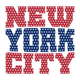 T shirt typography New York blue red stars Royalty Free Stock Image