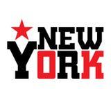 T shirt typography New York star Stock Photo