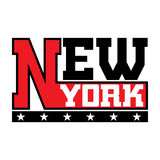 T shirt typography stars New York city Stock Photo