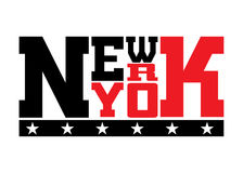 T shirt typography stars New York red Royalty Free Stock Photos
