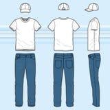 T-Shirt und Jeans eingestellt vektor abbildung