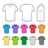 T-shirt in various colors. vector illustration