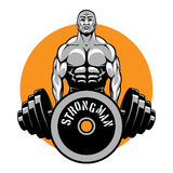 T-shirt vector design for bodybuilders and fitness Stock Photos