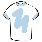 T-shirt vector. A sketch of a t-shirt isolated  + vector EPS file Royalty Free Stock Photography