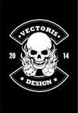 T-shirt Vectoris do osso Imagens de Stock Royalty Free