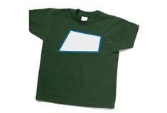 T-shirt vert d'isolement Image libre de droits