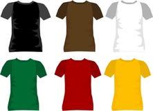 T-shirt voor mensenvector Stock Afbeelding