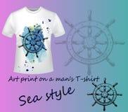 T-shirt with a wheel Stock Photos