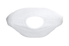 T-shirt white fabric, top view Stock Image