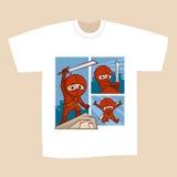T-shirt White Print Design Superheroes Comics Royalty Free Stock Photo