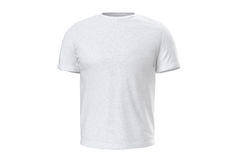 T-shirt white wear, front view Royalty Free Stock Photography