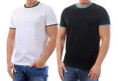 T-shirt on a young man stock images