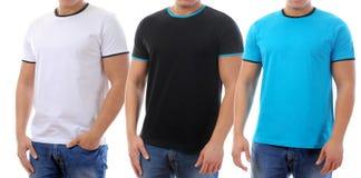 T-shirt on a young man stock photos