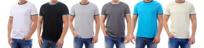 T-shirt on a young man stock illustration