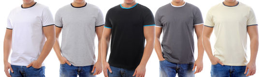 T-shirt on a young man Stock Photos