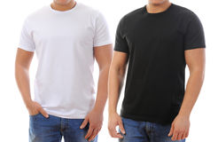 T-shirt on a young man royalty free stock images
